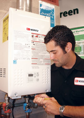 Noritz Introduces Concentric- Vented, 180,000 BTU/h Tankless Water Heater, Featuring Eco-Friendly Design